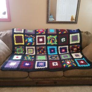 "Handmade Crochet Blanket Throw 49"" x 60"""